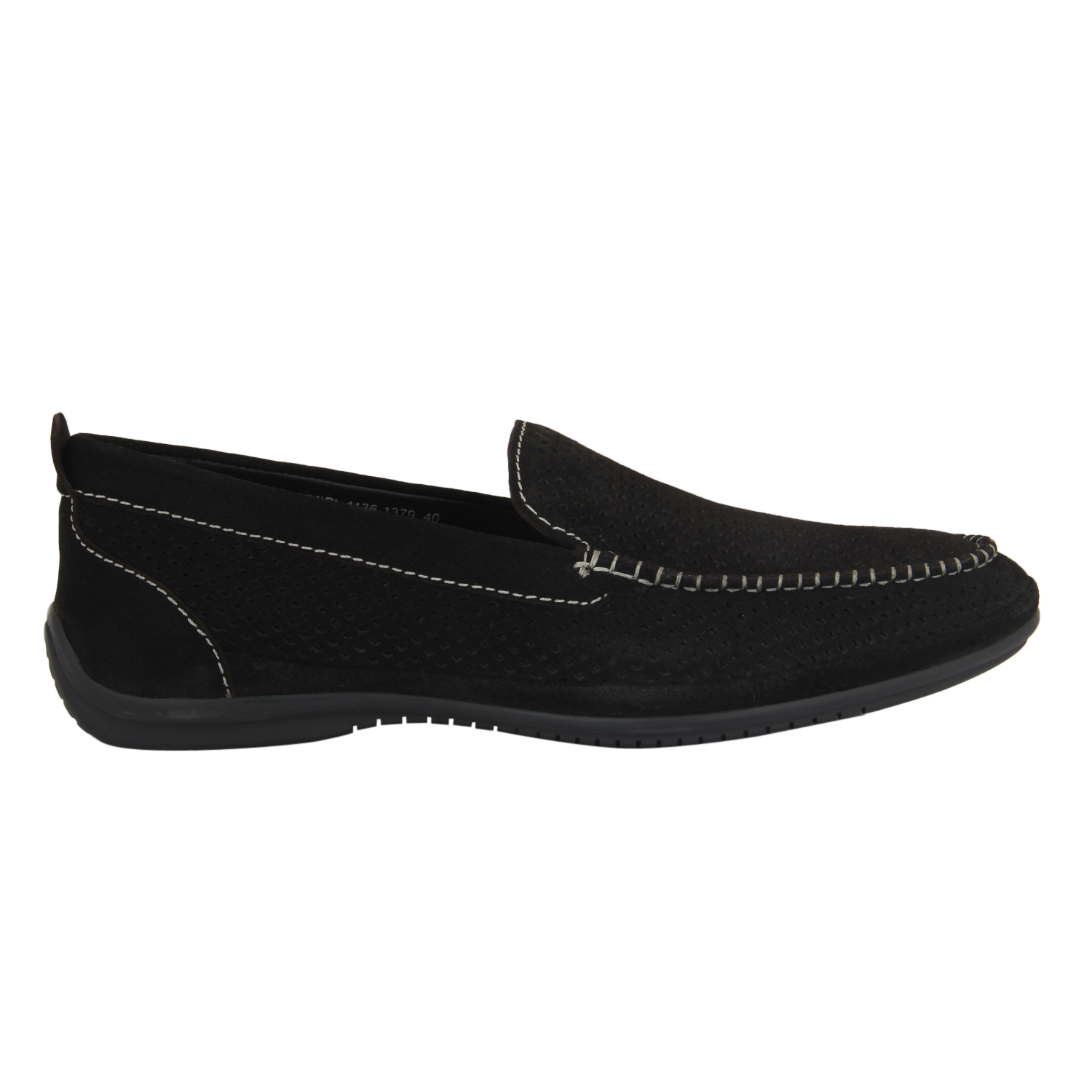 Blue Suede Slip-On Loafer Shoes