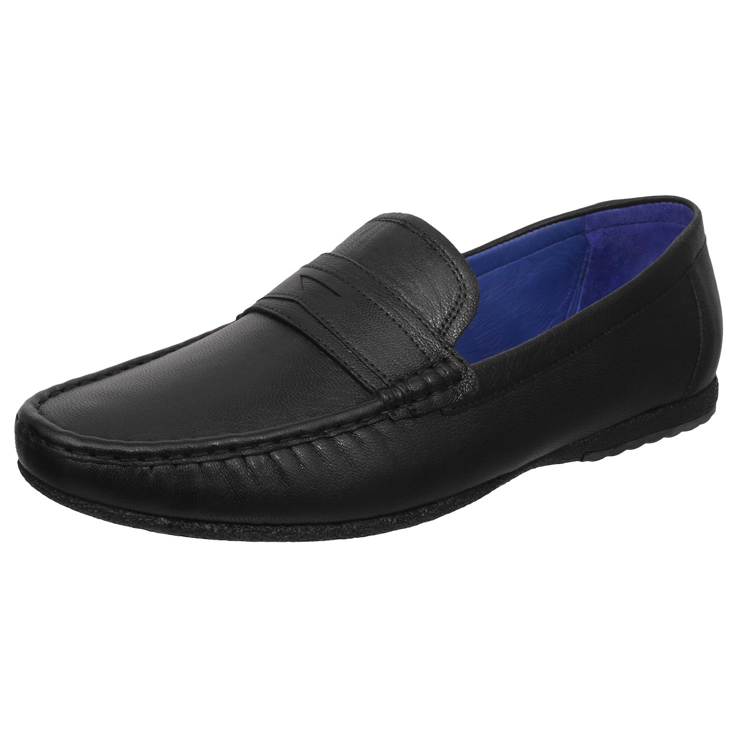 Black Slip-On Moccasin Shoes