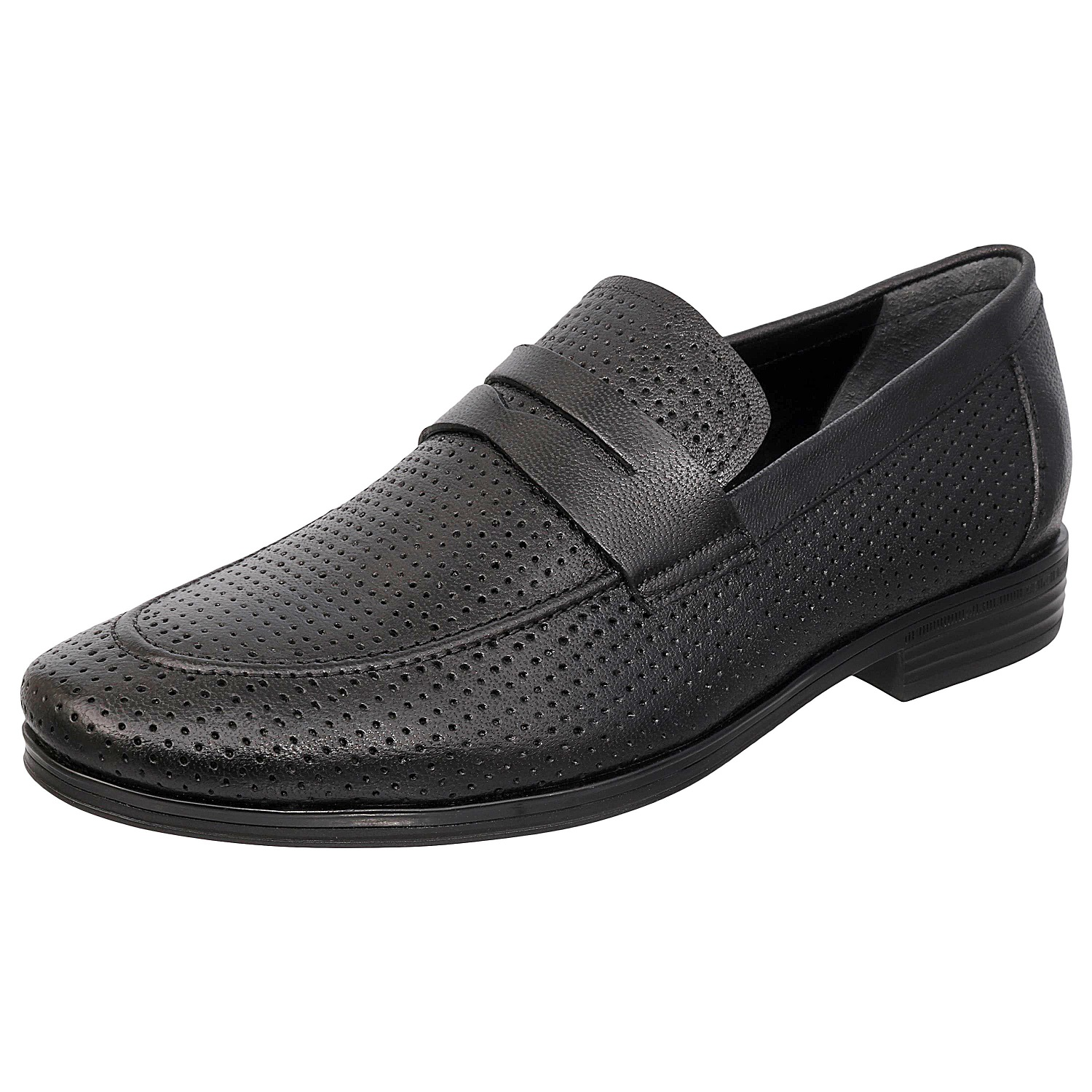 Black Slip-On Semi Formal Shoes