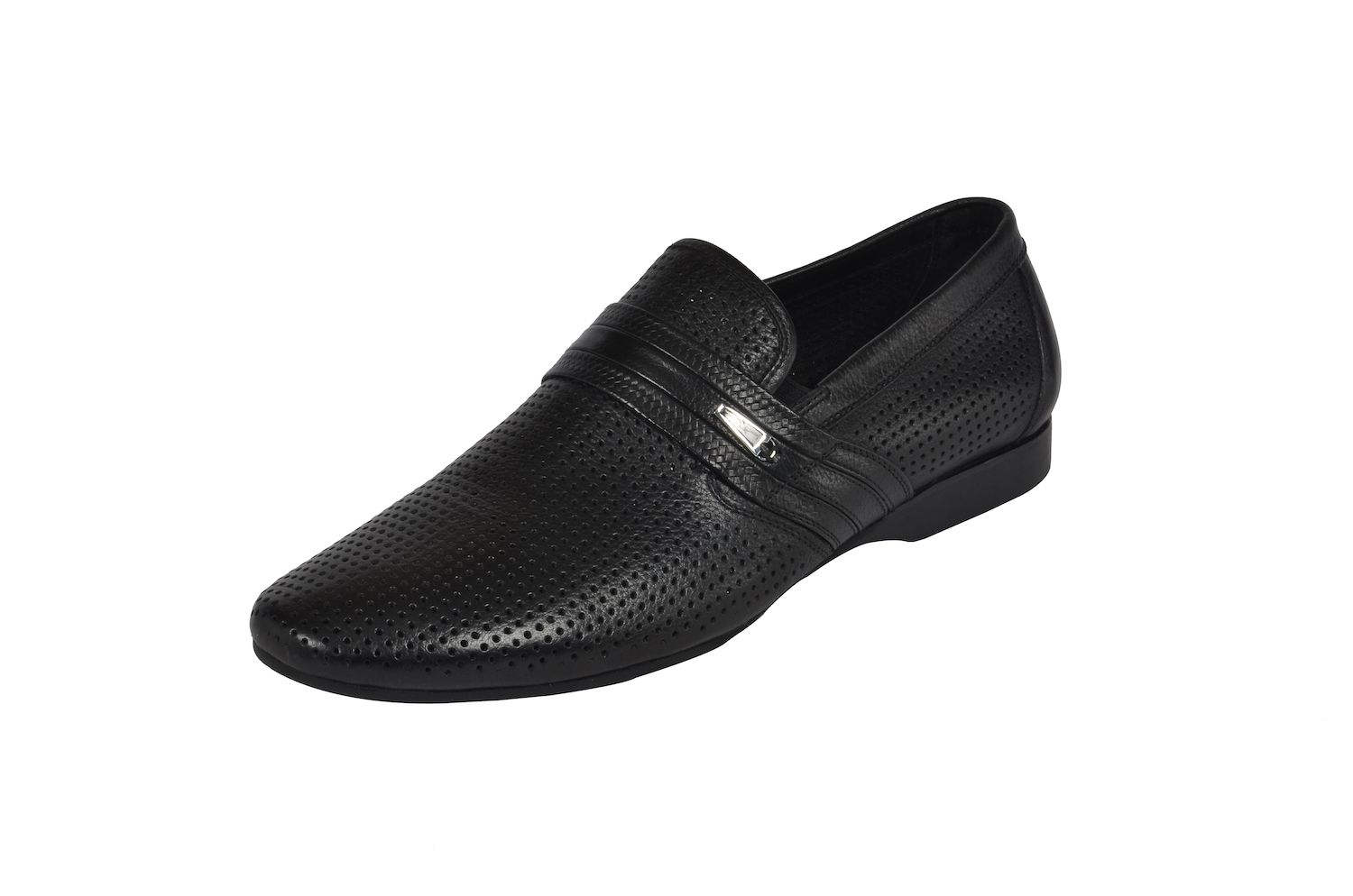 Black Slip-On Casual Shoes