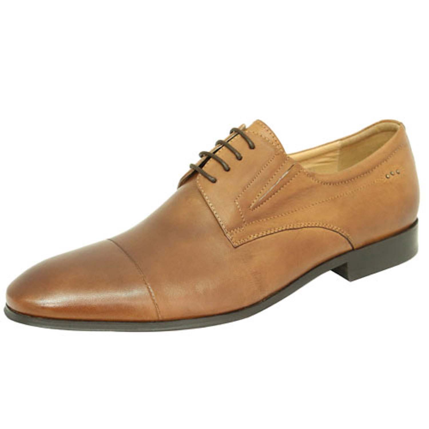 Tan Lace-Up Formal Shoes