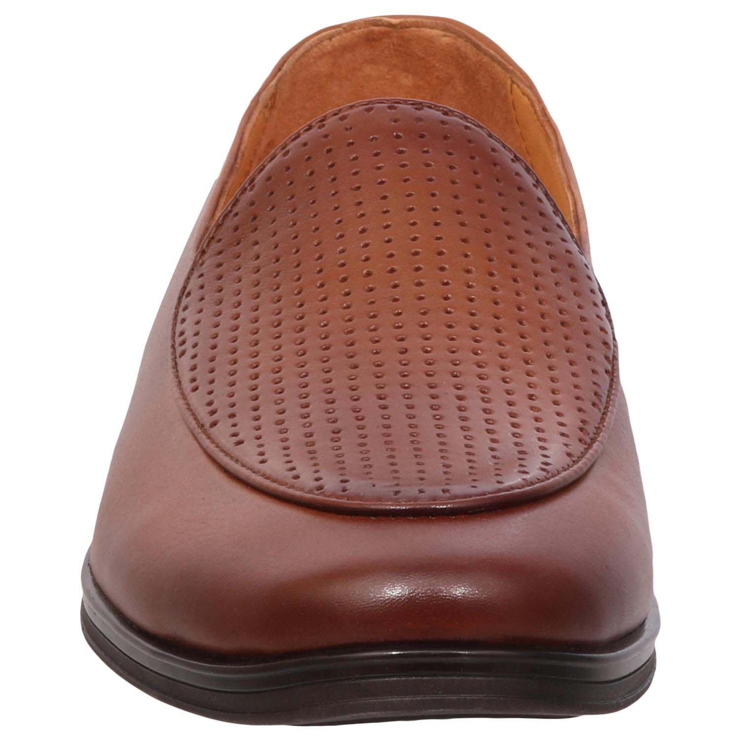 Brown Slip-On  Semi Formal Shoes