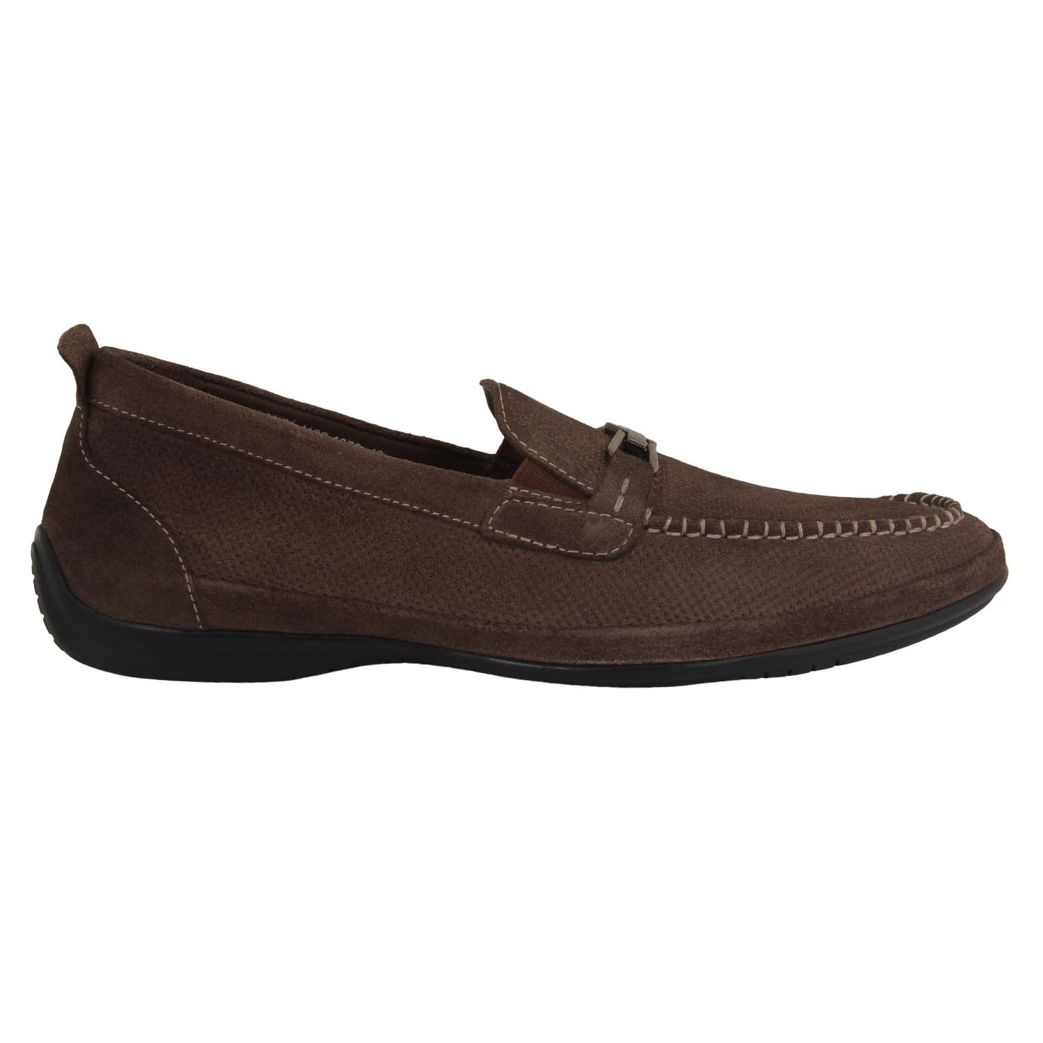 Brown Suede Slip-On Loafer Shoes