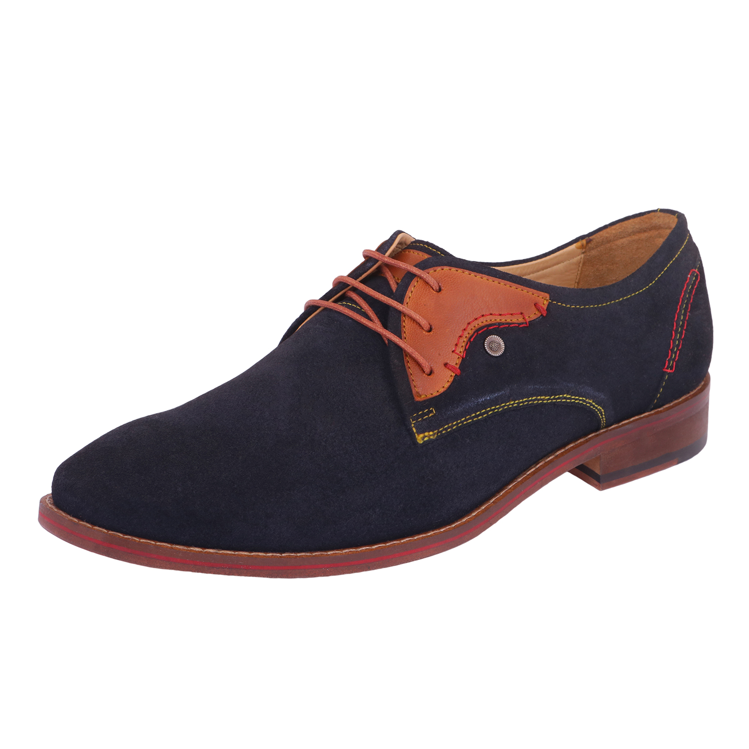 Blue Lace-Up Casual Shoes