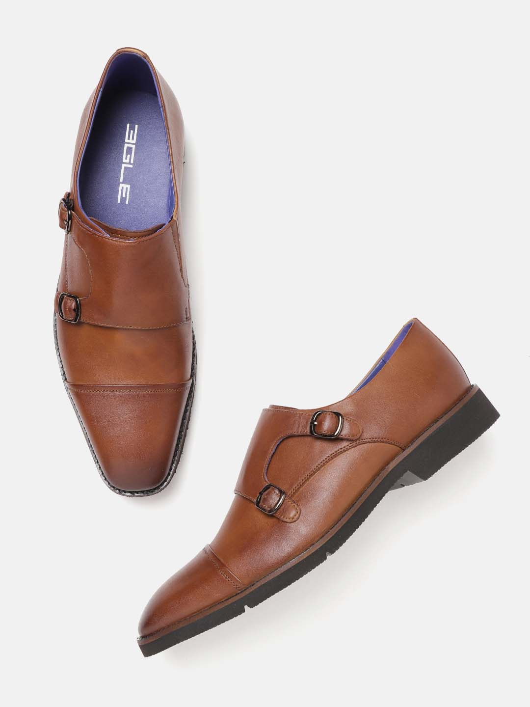 Brown Formal Monk Strap Shoes